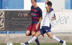 Juan Cámara con el filial del Barça