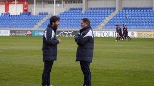 Anquela primer entrenamiento Huesca