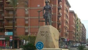 Pintada en el Minero (Linares) | Diario Jaén
