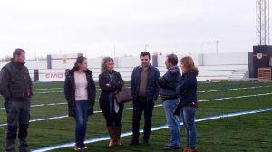 Visita de José Castro a las obras del estadio del Jabalquinto | teinteresa.es