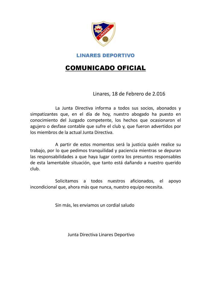 Comunicado 18-02-16 - Denuncia