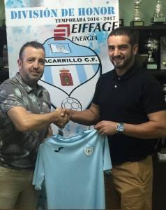 Francisco José Martínez con Miguel Ruiz   Villacarrillo CF
