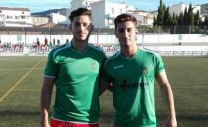Ernesto Mesa, a la izquierda, con la camiseta torrecampeña | CD Torredelcampo