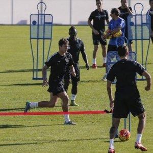 Gallardo con el primer equipo del Málaga CF | MálagaCF