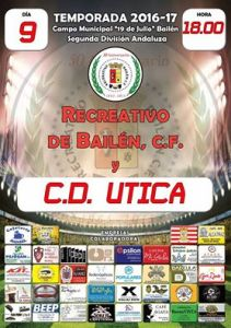 Cartel del partido | Recreativo Bailén