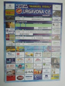 Cartel del partido   Urgavona CF
