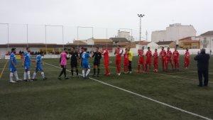 Saludo entre los equipos | Atlético Porcuna