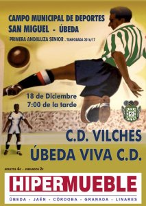 Cartel del partido | CD Úbeda Viva