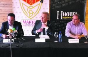 Antonio Martínez en un acto del club | Martos CD