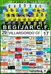 Cartel del partido   Begíjar CF