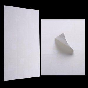 planches etiquettes autocollantes papier blanches