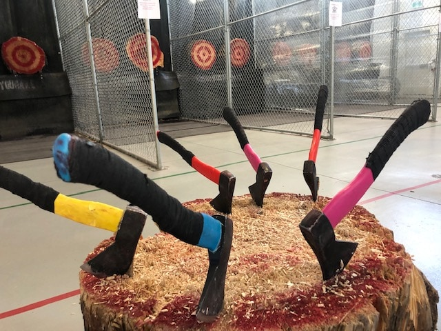 Axe throwing at Axe Monkeys