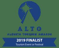 Alberta Tourism Award Finalist 2019 Badge