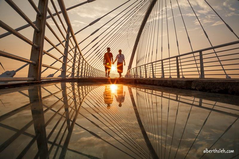 香山豎琴橋.新竹拍攝景點