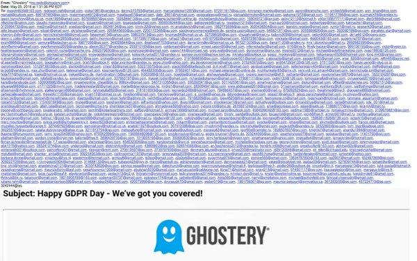 Ghostery blundert met GDPR-mail – honderden e-mailadressen gelekt