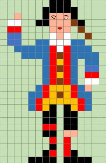 Pixel Art Di Carnevale La Scheda Della Maschera Di Stenterello