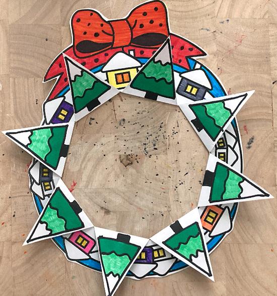 Lavoretti Di Carta Natale Bambini.Lavoretti Di Natale Per Bambini Una Ghirlanda Di Carta Semplicissima Modello Stampabile Gia Pronto Maestro Alberto