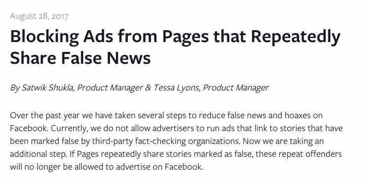 Facebook cambia l'algoritmo: l'annuncio ufficiale contro le fake news
