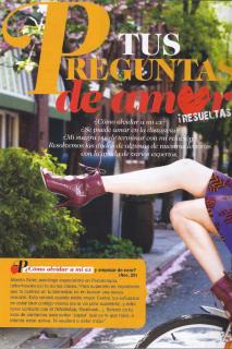 """Cosmopolitan. Febrero de 2014. Consultorio. """"Tus preguntas de amor, resueltas"""""""