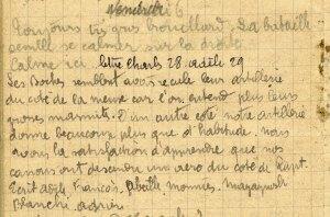 19141106-001 Les Boches semblent avoir reculé leur artillerie