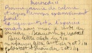 19141111-001 Le régiment est à l'exercice