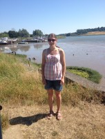 Walking to Sutton Hoo along the river