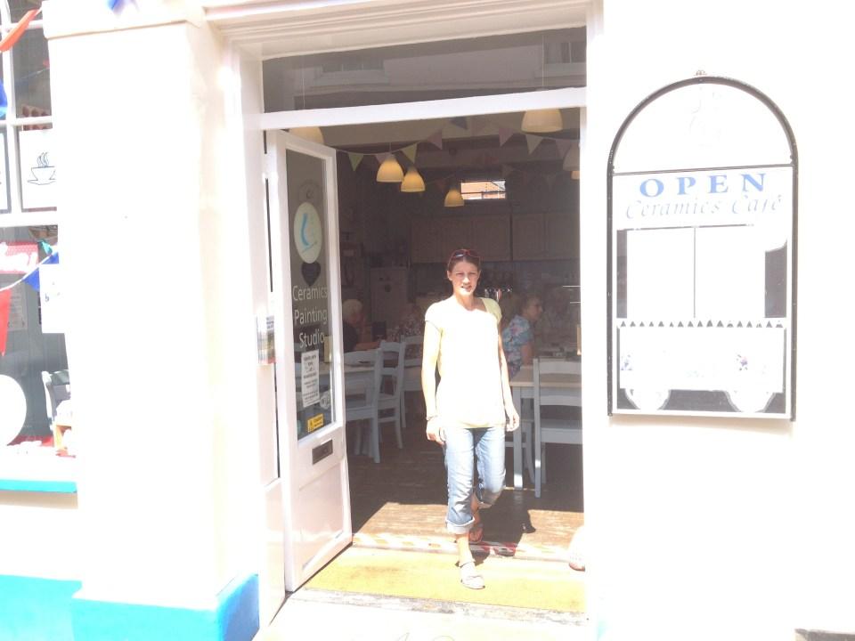 Outside the Ceramic Cafe Woodbridge