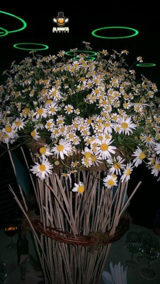 aranjament floral musetel