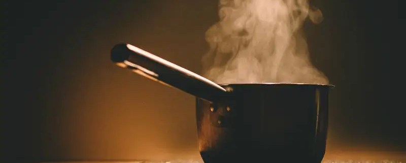 induction cooking boiling water