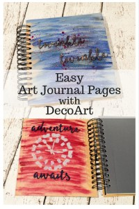 Easy Art Journal Pages with DecoArt