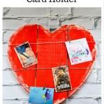 Wooden Heart Valentine's Day Card Holder