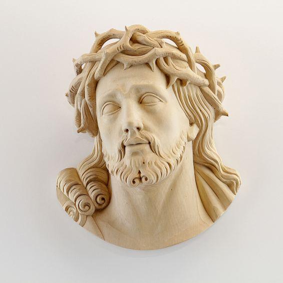 Jesus Head ALBL Oberammergau Woodcarving Studio