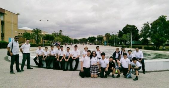 Los alumnos del club de robótica aSEKmov de SEk Alborán en la Universidad de Almería