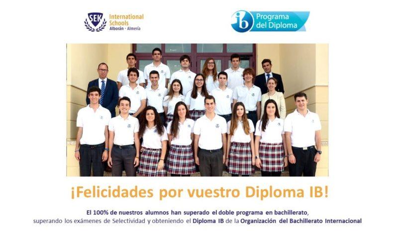 Todos los alumnos han obtenido el Diploma IB