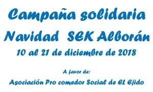 Campaña solidaria Navidad SEK Alborán 2018