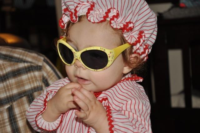 I'm so cool, I gotta wear shades.