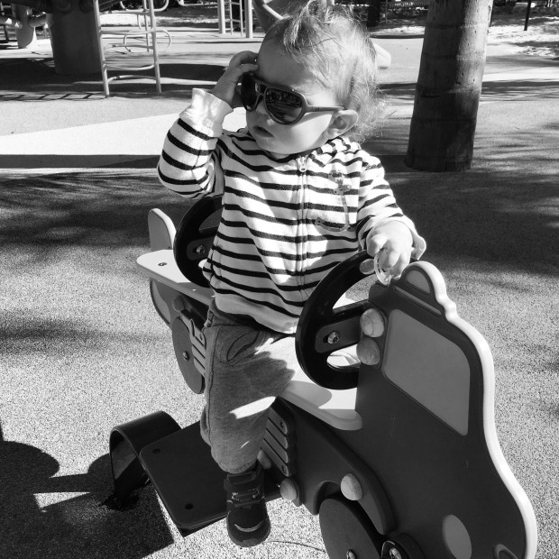 Coolest dude on the playground.