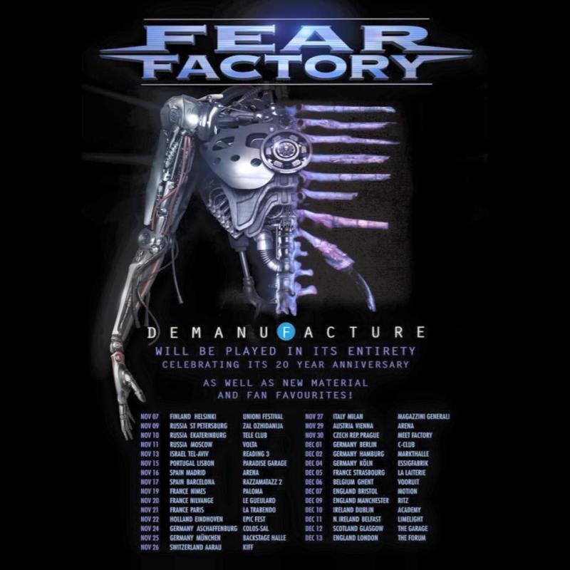 Fear Factory Demanufacture tour