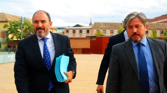 El ex-alcalde del PP, Javier Bello, en los juzgados