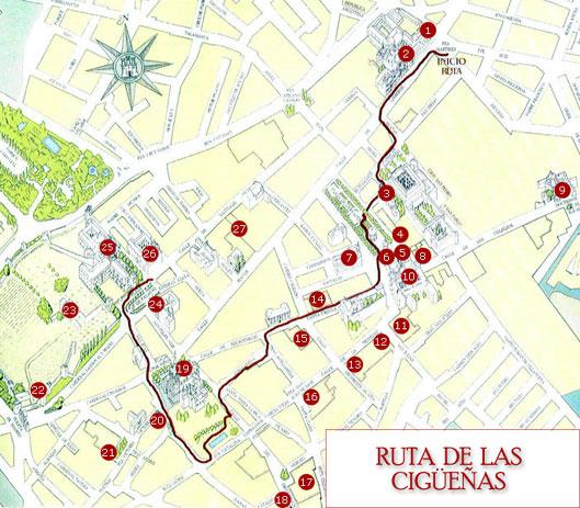 Ruta de las cigüeñas en Alcalá