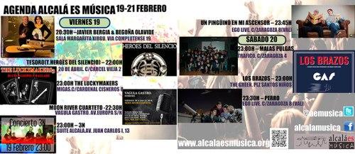Agenda musical de Alcalá 19 a 21 de febrero