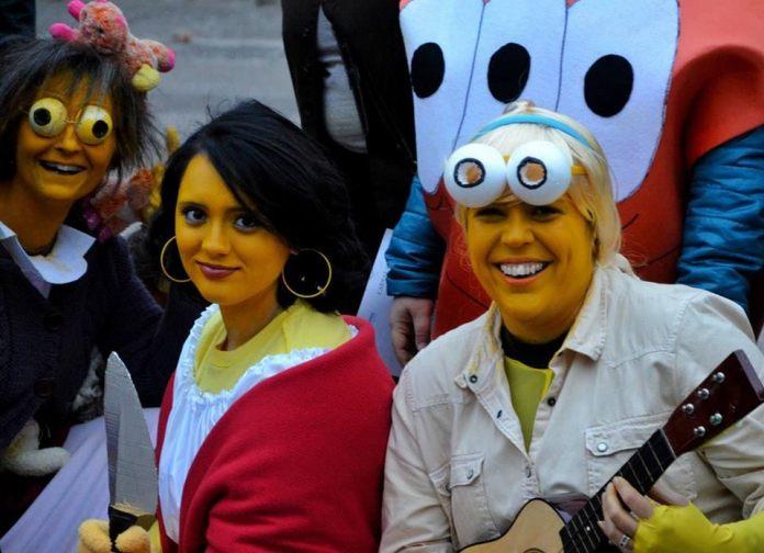 Los Simpsons en el Carnaval de Alcalá 2016