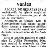 """Necrológica de Cervantes en """"El Sol"""""""