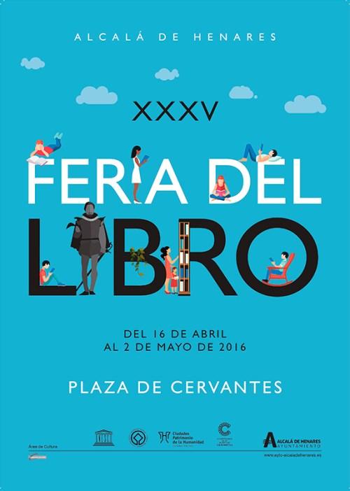 Cartel oficial de la XXXV Feria del Liebro de Alcalá