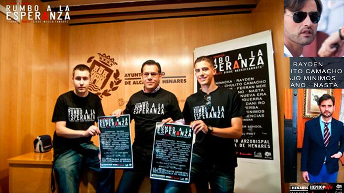A la izquierda, posado de Marcelo Isoldi con los orgnizadores del testival, y a la derecha Guillermo Cabrilla
