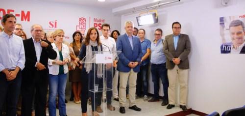 Reunión de urgencia de la Comisión Ejecutiva del PSOE-Madrid
