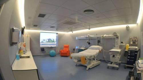 Fotografía facilitada por la Comunidad de Madrid de una de las salas de parto del Hospital Universitario Príncipe de Asturias. (EFE)