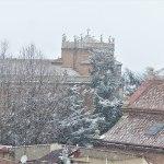La primera nevada del año 2021 en Alcalá de Henares