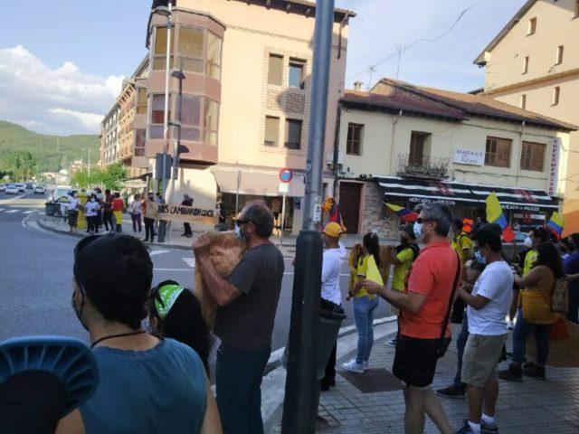 Manifestación SOSCOLOMBIA SOBRARBE, Centro de L'Ainsa