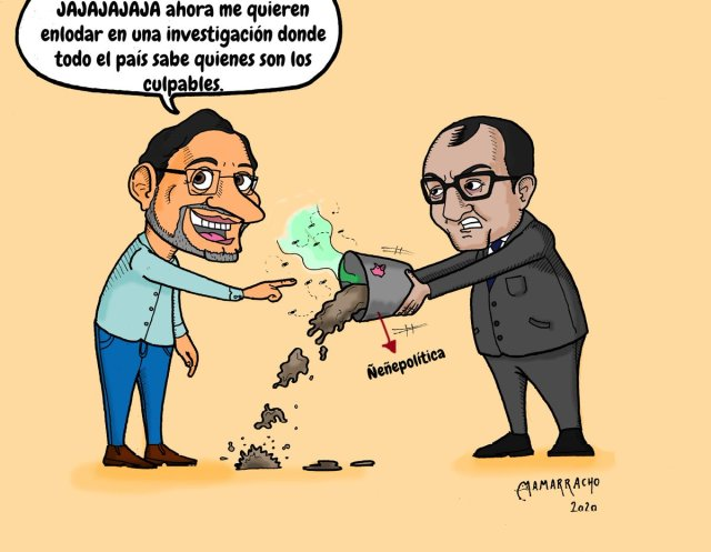 Caricatura: Investigando por el lado contrario